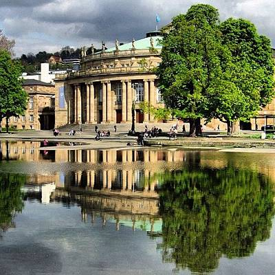 Reflection Photograph - Stuttgart Staatstheater Staatsoper Opera Theatre Germany by Matthias Hauser