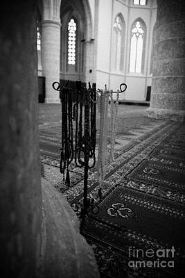 Subha Misbaha Tasbih Prayer Beads Hanging In The Lala Mustafa Pasha Mosque  Art Print