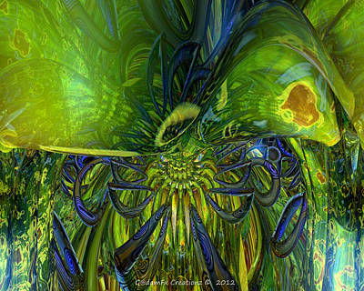 Bookmarks Digital Art - Sudden Disturbance Fx  by G Adam Orosco