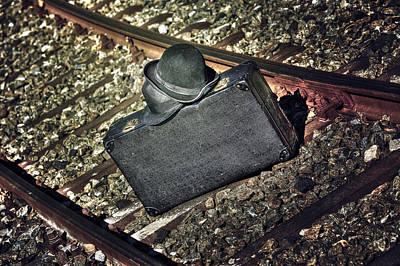 Train Tracks Photograph - Suitcase And Hats by Joana Kruse