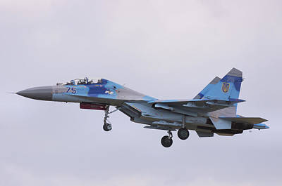 Photograph - Sukhoi Su-27ub Flanker  by Tim Beach
