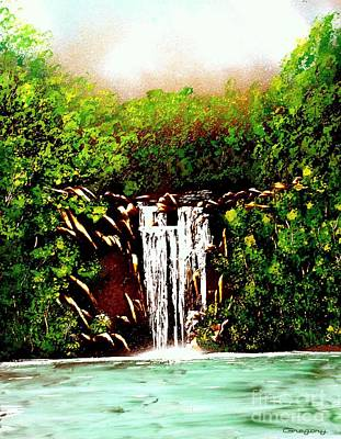 Painting - Summer Falls by Greg Moores