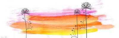 Minimalism Digital Art - Summer Flowers by Nomi Elboim