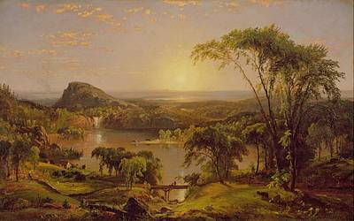 Quebec Painting - Summer Lake Ontario by Jasper Francis Cropsey