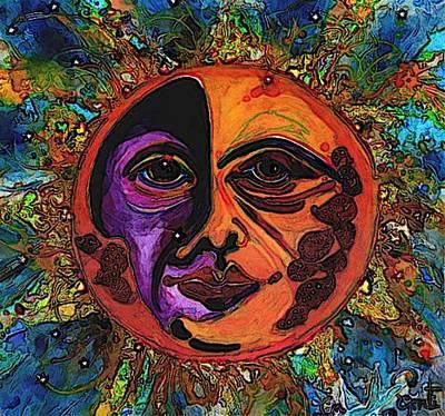 Cbs Sunday Morning Painting - Sun Duality by Mary Sonya  Conti