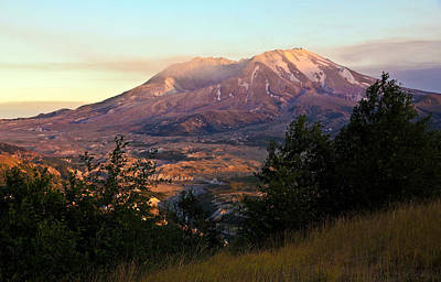 Photograph - Sun Going Down At Mt. St. Helens by Athena Mckinzie