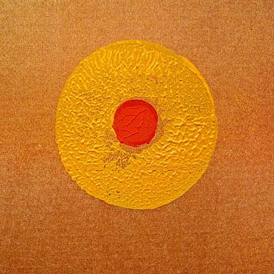 Cardboard Painting - Sun Spot by Charles Stuart