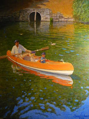 Painting - Sunday On Avon by Terry Perham