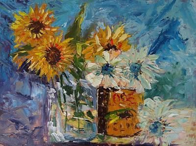 Sunflower Still Life Art Print by Carol Berning