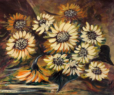 Painting - Sunflowers 12 by Gina De Gorna