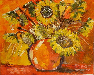 Painting - Sunflowers by Judy Morris