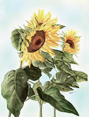 Sunflowers Art Print by Leona Jones