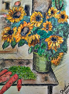 Painting - Sunflowers by Shelley Bain