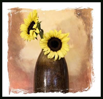 Sunny Sunflowers Print by Marsha Heiken