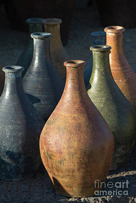 Photograph - Sunrise And Pottery by Sandra Bronstein