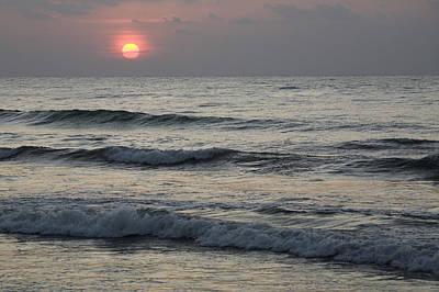 Sunrise Over Arabian Sea Hawf Protected Art Print by Sebastian Kennerknecht