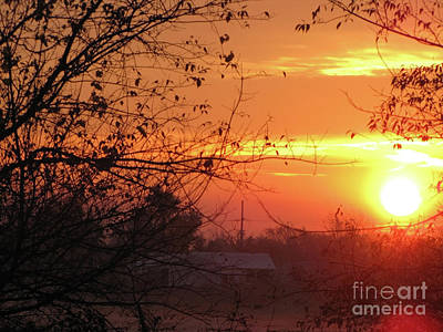 Sunrise Over Rural Homestead Art Print by Cedric Hampton