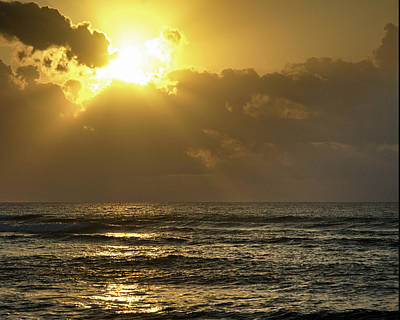 Photograph - Sunrise Over The Caribbean by Barry Doherty
