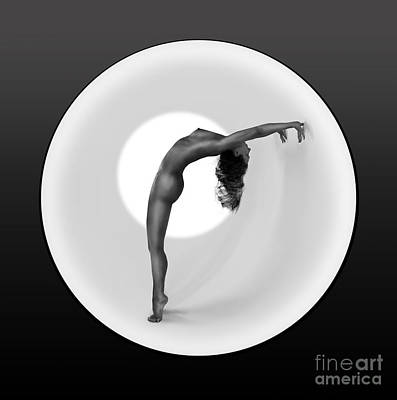 Olia Saunders Photograph - Sunrise Yoga Nudes 2 by Design Remix