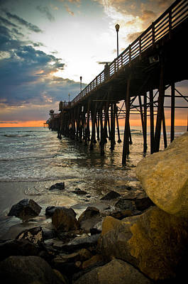 Photograph - Sunset At Oceanside Pier by Mickey Clausen