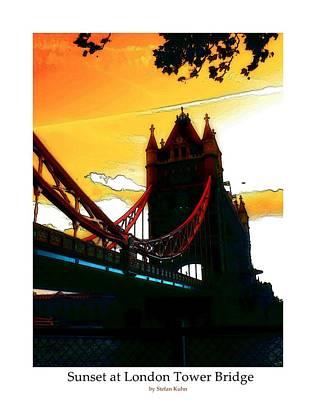 Sunset At Tower Brigde  Art Print by Steve K