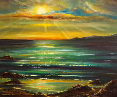 Sunsets Painting - Sunset by Gina De Gorna