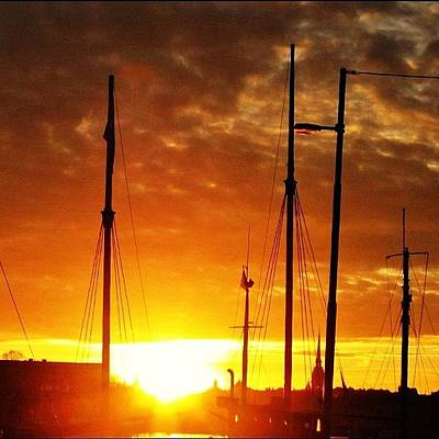 Skylines Wall Art - Photograph - #sunset In #stockholm #2005 by Gianluca Sommella