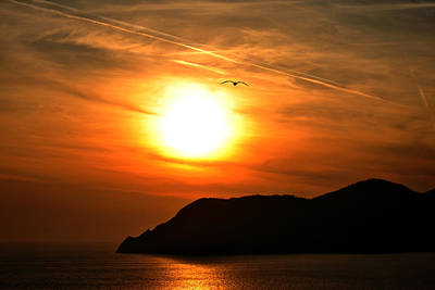 Sunset In The Village Corniglia Art Print by Neha Singh