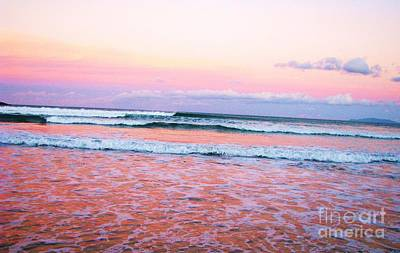 Sunset In The Waves Art Print by Michele Penner