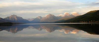 Sunset Lake Mcdonald Art Print