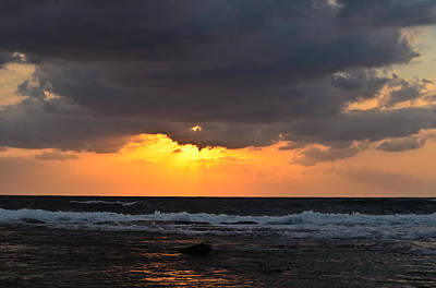 Queen Rights Managed Images - Sunset over sea Royalty-Free Image by Michael Goyberg