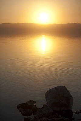 Sunset Over The Dead Sea Art Print by Taylor S. Kennedy