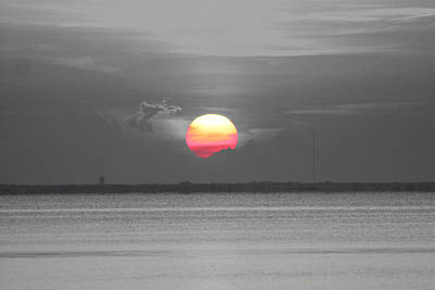 Photograph - Sunset Selective Coloring by Jeanne Andrews