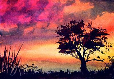 Painting - Sunset Solitaire by Frank SantAgata