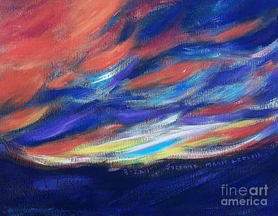 Painting - Sunset by Suzanne  Marie Leclair