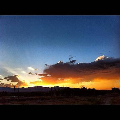 Color Contrast Wall Art - Photograph - #sunset #utah by Augie Stardust