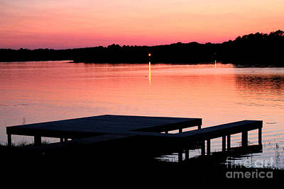 Art Print featuring the photograph Sunset View From Dockside by Kathy  White