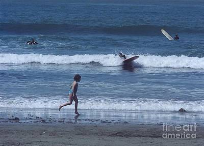 Art Print featuring the photograph Surf's Up by Cynthia Marcopulos