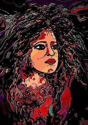 Contemplation Mixed Media - Suzette by Natalie Holland