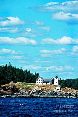 Swans Island Lighthouse Art Print by Thomas R Fletcher