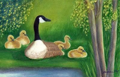 Goslings Painting - Sweet Repose  by Jeanne Kay Juhos