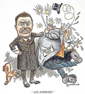 T. Roosevelt Cartoon Art Print by Granger