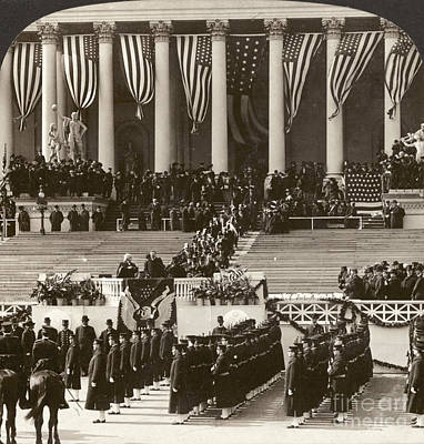 Photograph - T. Roosevelt Inauguration by Granger