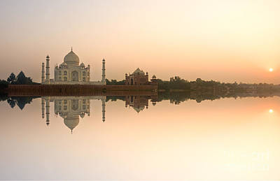 Art Print featuring the photograph Taj Mahal  by Luciano Mortula