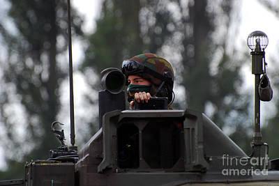 Tank Commander Of A Leopard 1a5 Mbt Art Print by Luc De Jaeger