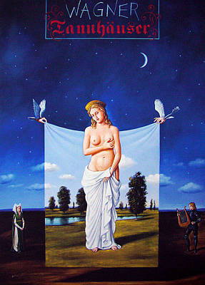 Mixed Media - Tannhauser by Rafal Olbinski