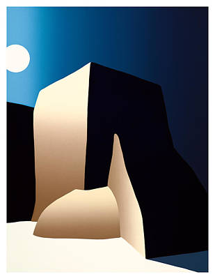 Taos Moon Art Print by Ed Wyatt