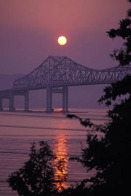 Tappen Zee Bridge At Sunset Print by Richard Nowitz