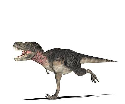 Tarbosaurus Photograph - Tarbosaurus Dinosaur, Computer Artwork by Friedrich Saurer