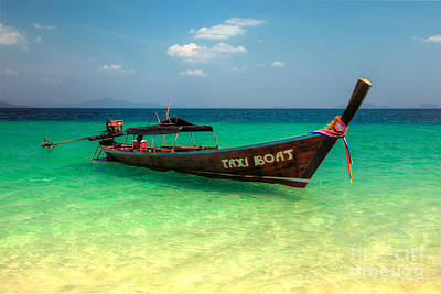 Taxi Boat Art Print by Adrian Evans